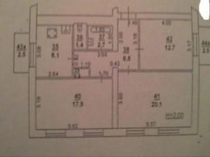 Увеличить - Объект №32645ц Каяни 1 комнату, 3/4-кирп., 1961г.п, 18 кв.м, в/у, ТЭЦ/колонка: Фото № 1,