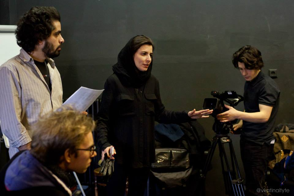 Leila Hatami na workshopu Prague Film School © Vaiva Katinaityte Photography