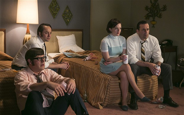 mad men - moon landing