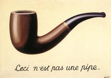 René Magritte: Ceci n'est pas une pipe, 1929 olej na plátně